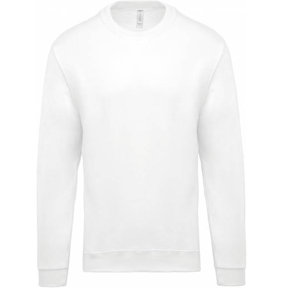 SWEAT ENFANT COL ROND WHITE
