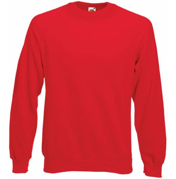 SWEAT HOMME COL ROND RED