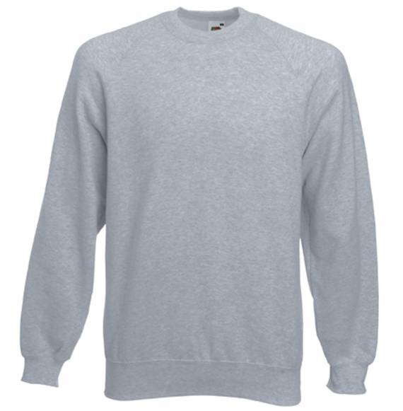 SWEAT HOMME COL ROND GREY