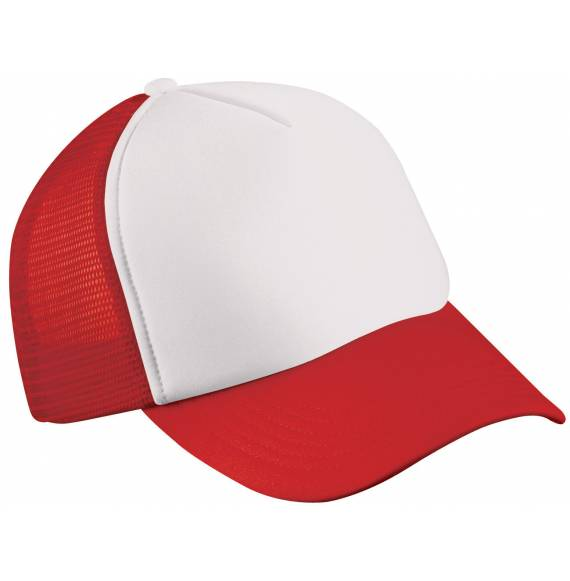 CASQUETTE FILET WHITE / RED