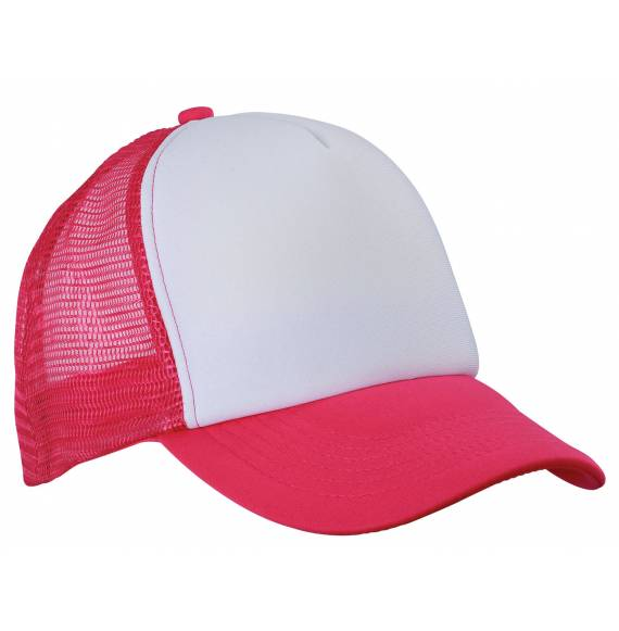 CASQUETTE FILET WHITE / MAGENTA