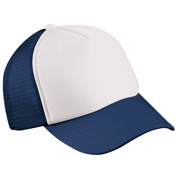 CASQUETTE FILET WHITE / NAVY