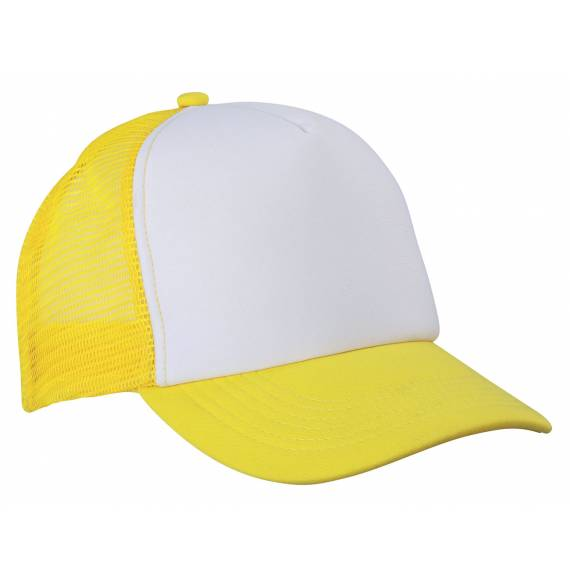 CASQUETTE FILET WHITE / YELLOW