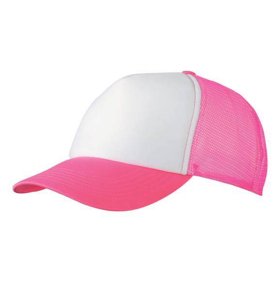 CASQUETTE FILET WHITE / PINK FLUO