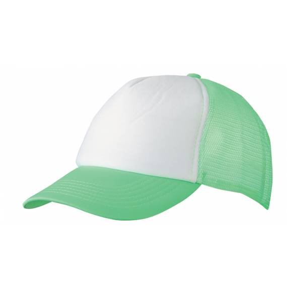 CASQUETTE FILET WHITE / GREEN FLUO