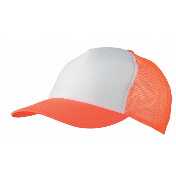 CASQUETTE FILET WHITE / ORANGE FLUO