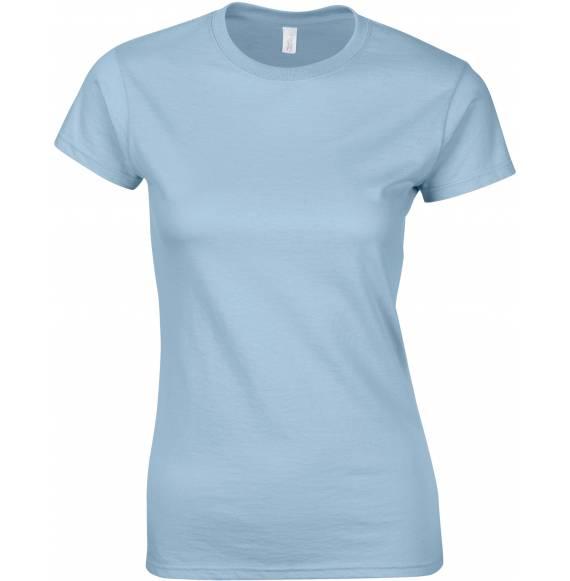 TEE SHIRT FEMME COL ROND SKY BLUE