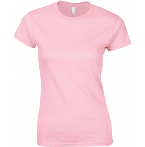 TEE-SHIRT FEMME COL ROND ROSE PALE