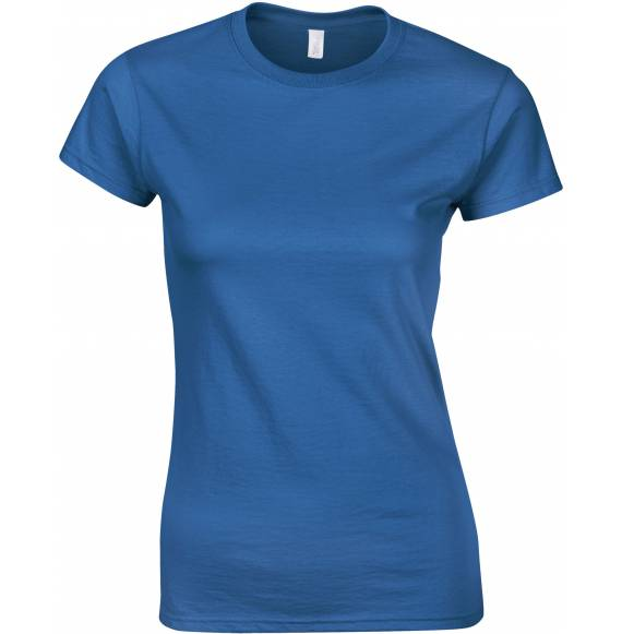 TEE-SHIRT FEMME COL ROND BLUE ROYAL