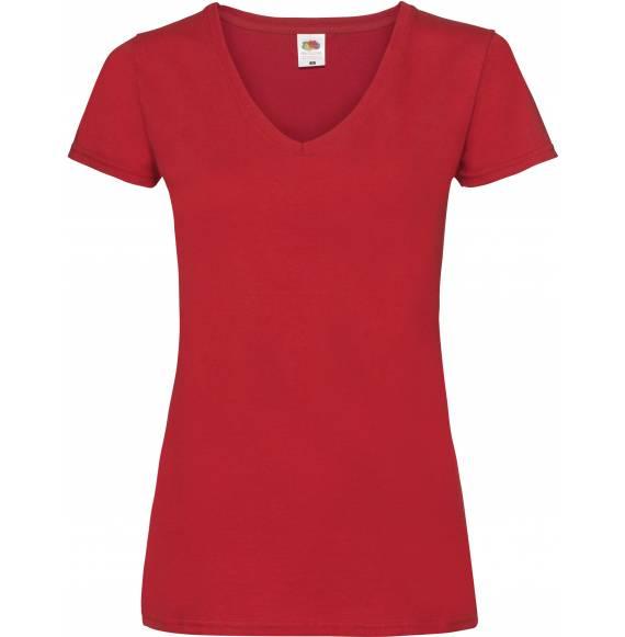 TEE-SHIRT FEMME COL V RED