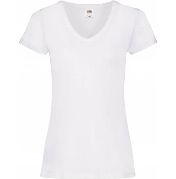 TEE-SHIRT FEMME COL V WHITE