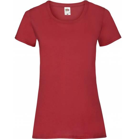 TEE-SHIRT FEMME DECOLLETE RED