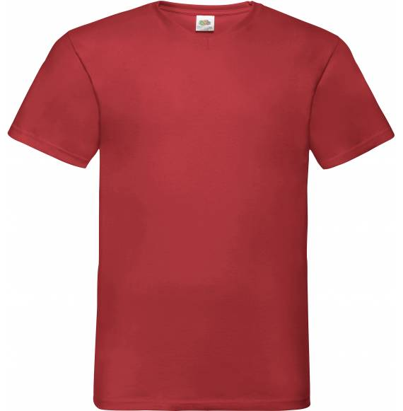 TEE-SHIRT HOMME COL V RED