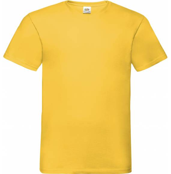 TEE-SHIRT HOMME COL V YELLOW