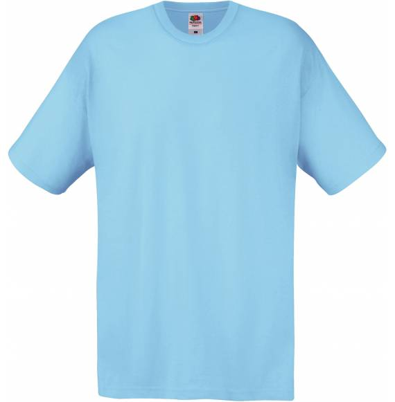 TEE-SHIRT HOMME COL ROND SKY BLUE