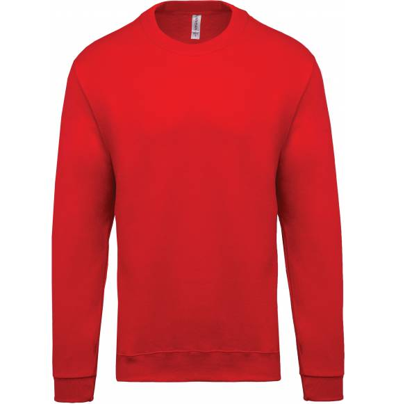 SWEAT ENFANT COL ROND ROUGE