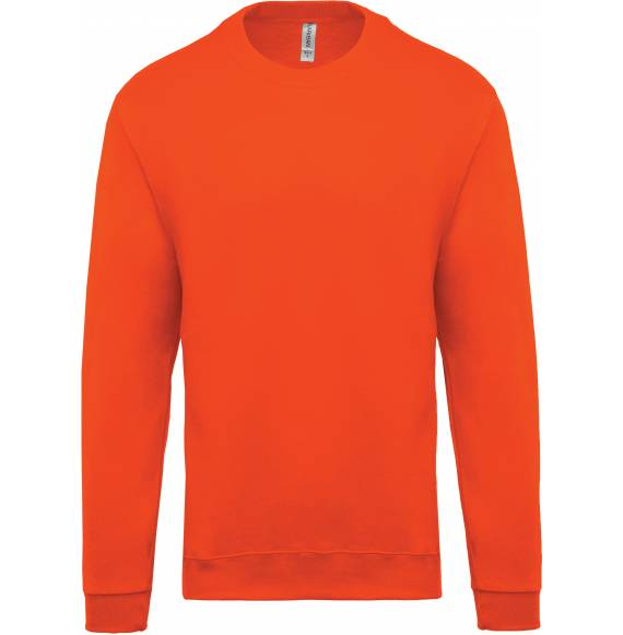 SWEAT ENFANT COL ROND ORANGE